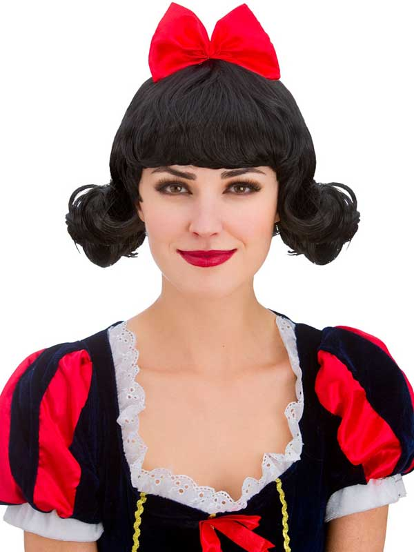 Adult Snow Princess Black Wig