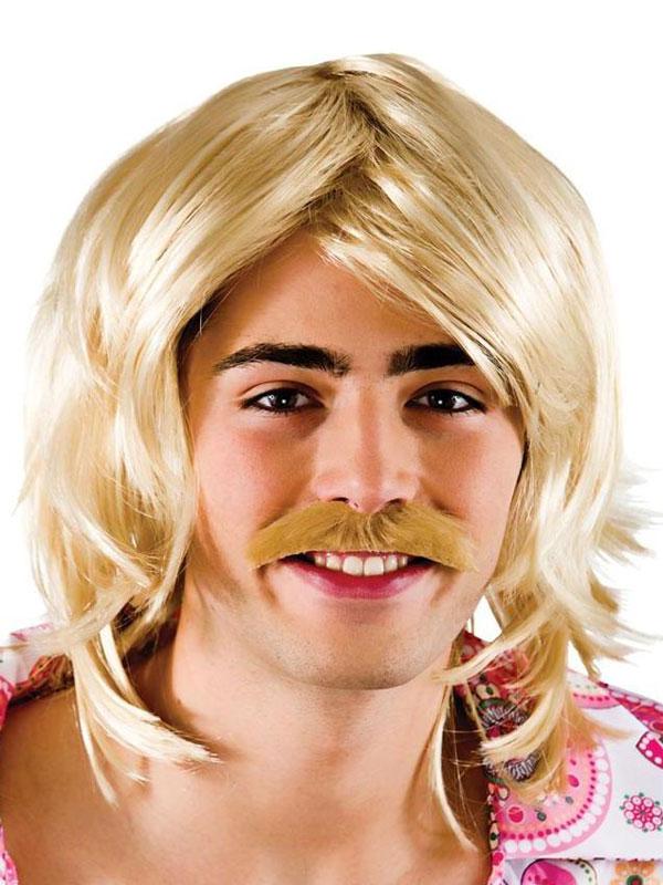 Adult Mens Gameshow Guy Wig & Tash Blonde