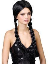 Adult School Girl Black Wig