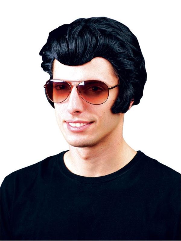 Adult Mens Black Rocker Wig