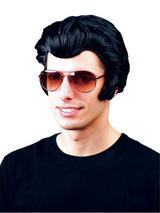 Adult Mens Black Rocker Wig