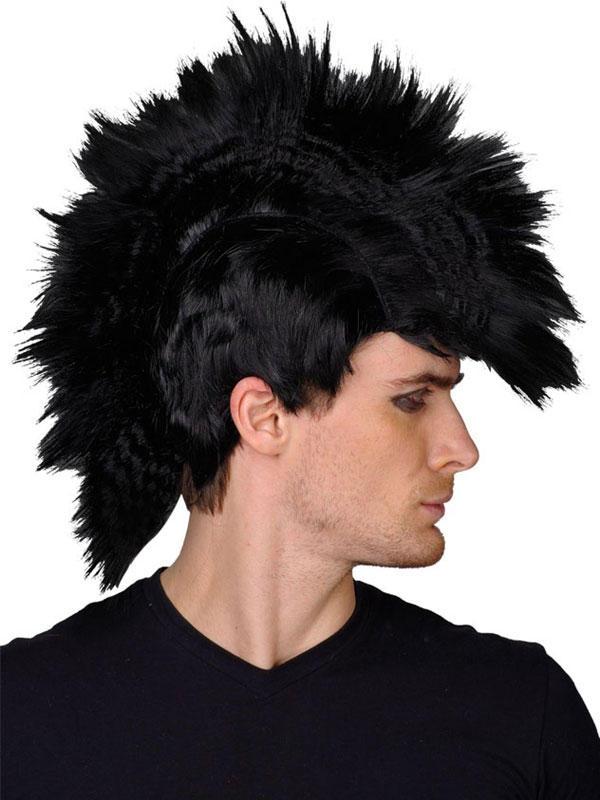 Adult Punk Black Rocker Wig