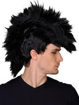 Adult Punk Black Rocker Wig