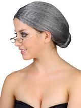 Adult Granny Bun Wig Grey