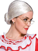 Adult Ladies Mrs Santa Claus Wig White