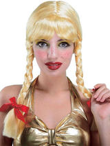 Adult Bavarian Schoolgirl Beer Girl Wig Blonde