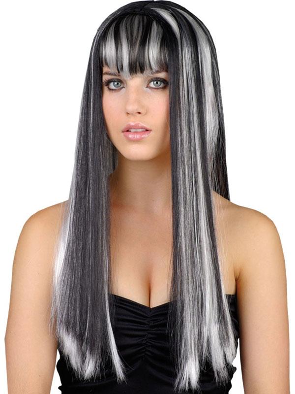 Adult Ladies Dead Gorgeous Wig Black White