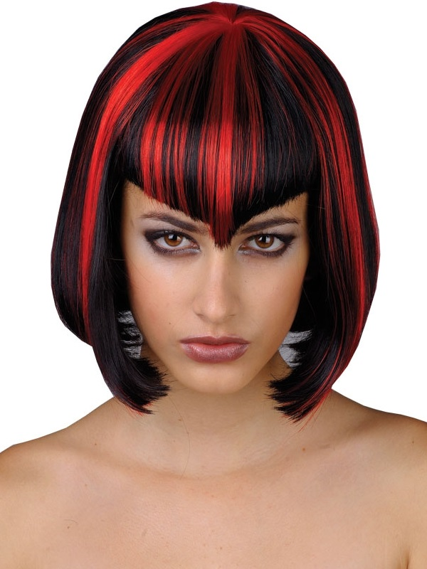 Adult Ladies Vamp Babe Wig Black Red