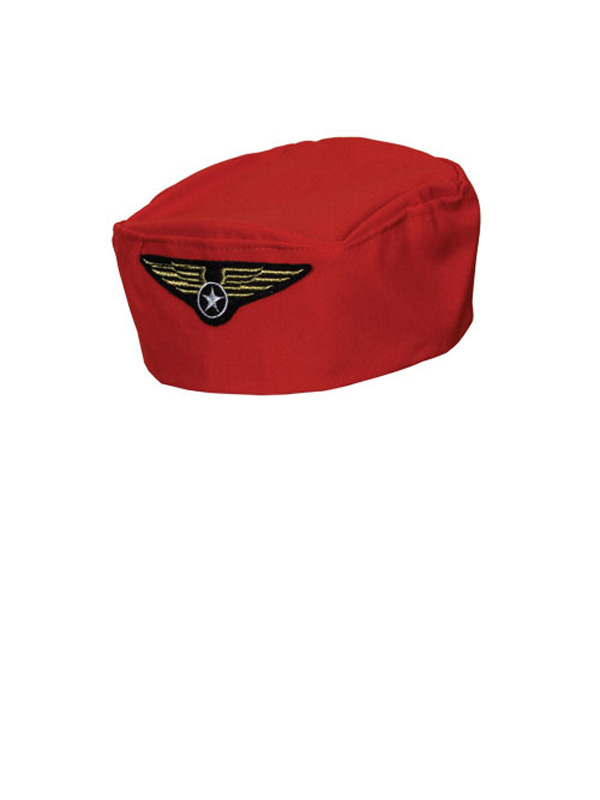 Flight Attendant Hat (Red)