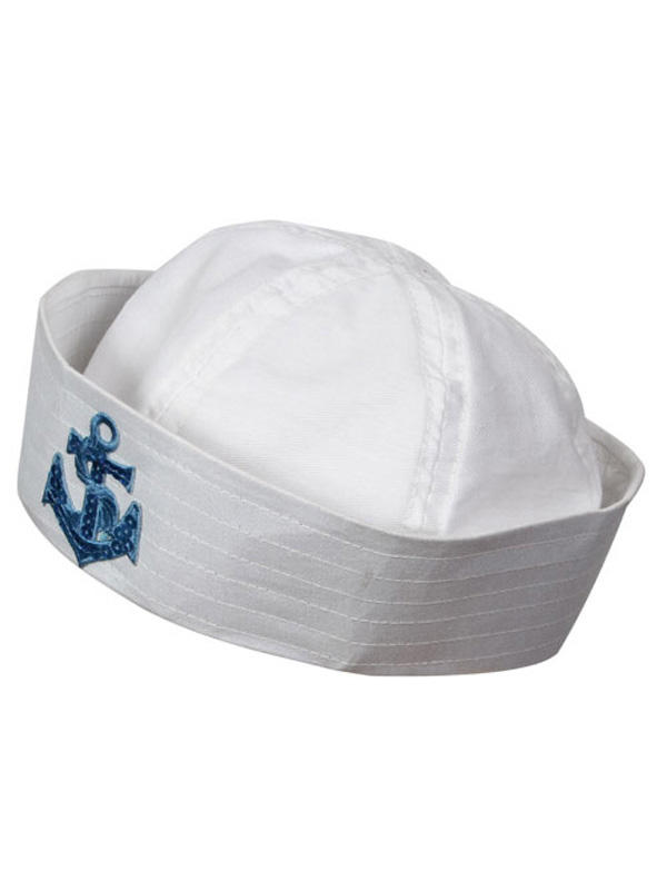 Sailor Doughboy Hat With Sequin Anchor