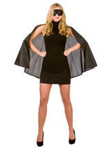 Set Superhero Cape With Mask Black