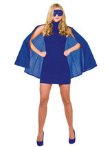 Superhero Cape With Mask Blue