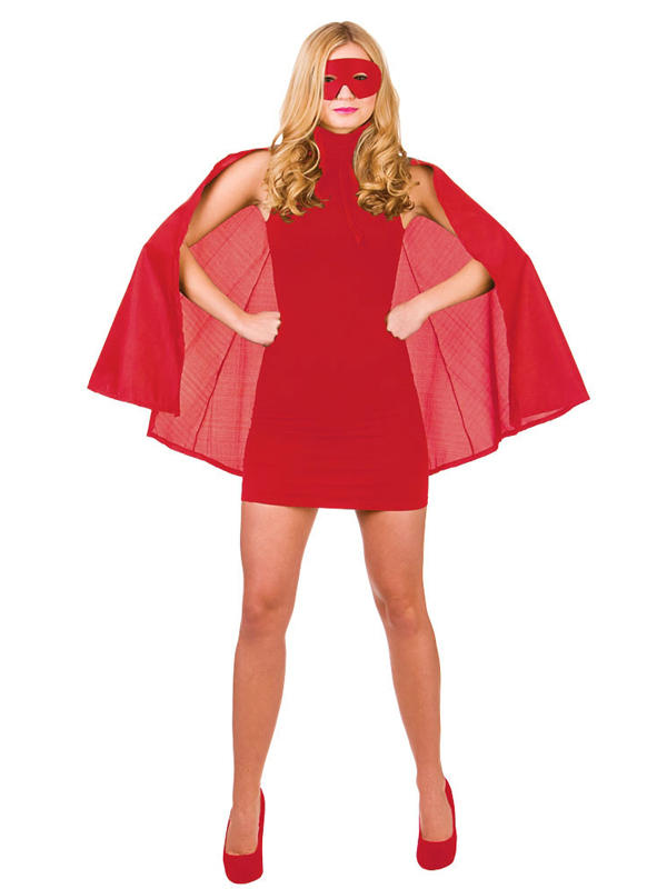 Superhero Cape With Mask Red