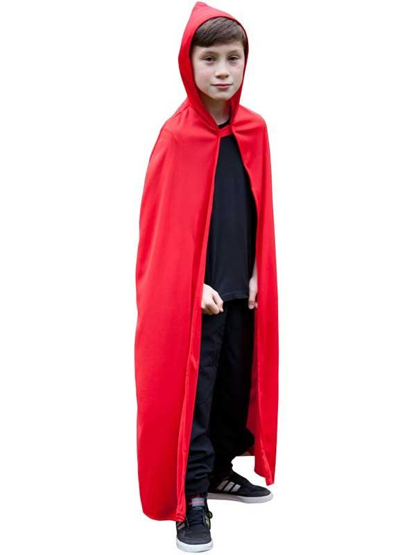 Child Hooded Cape Red