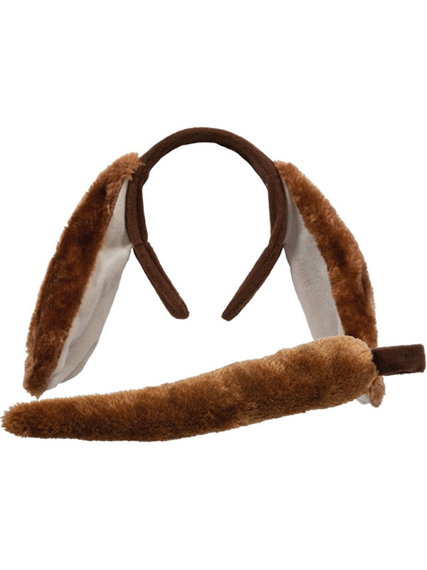 Animal Ears Headband & Tail Set (Dog)