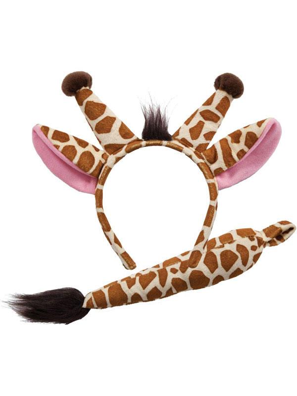 Animal Ears Headband & Tail Set (Giraffe)