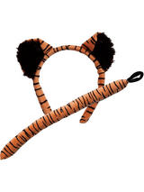 Animal Ears Headband & Tail Set (Tiger)