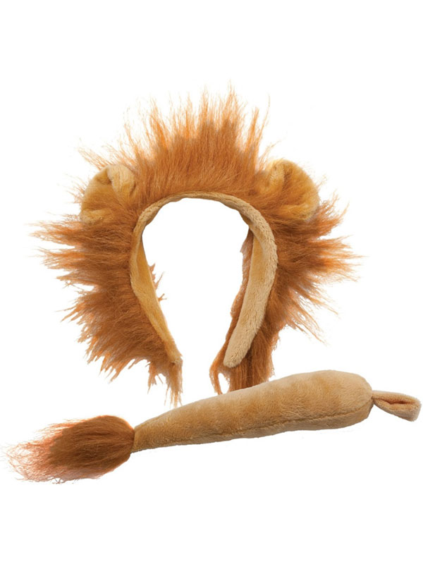Animal Ears Headband & Tail Set (Lion)