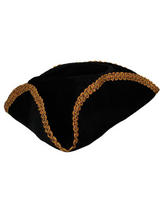 Pirate Hat With Gold Braid Trim