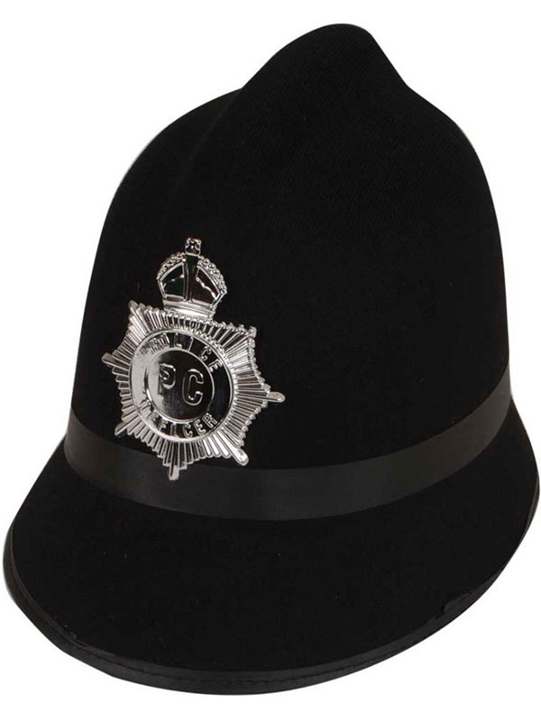 Traditional Police Bobby Hat (Black)