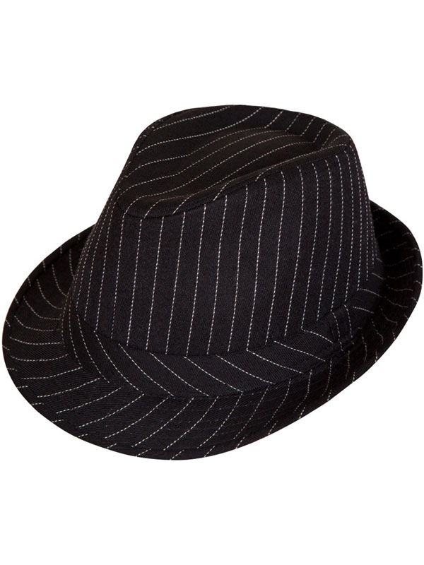 c392f6a5854 Pinstripe Fedora Hat | Gangsters | Plymouth Fancy Dress, Costumes and  Accessories