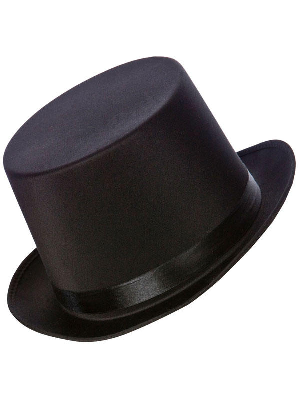 Adult Mens Satin Top Hat