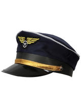 Airline Pilots Cap Hat (Navy Blue)