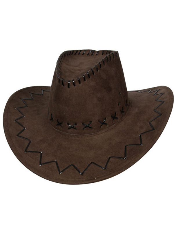 91213754788e88 Adult Brown Suede Cowboy Hat | Cowboy | Plymouth Fancy Dress, Costumes and  Accessories