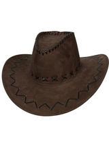 Adult Brown Suede Cowboy Hat
