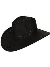 Suede Cowboy Hat (Black)