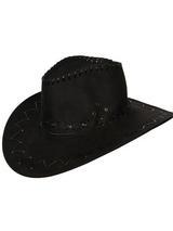 Suede Cowboy Hat (Black)