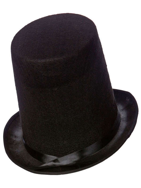 Adult Mens Stovepipe Hat 20cm Tall / Perfect Fit