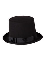 Deluxe Perfect Fit Stovepipe Hat (Black)