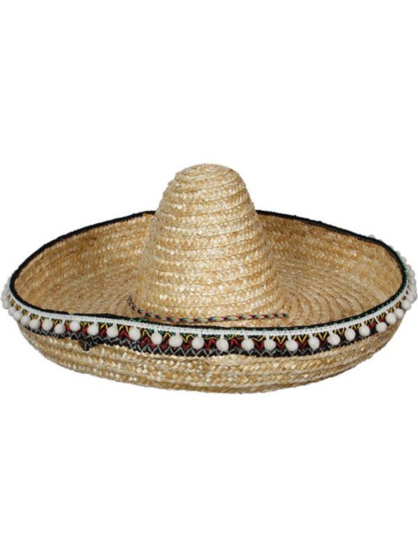 Straw Mexican Sombrero Hat (Deluxe)