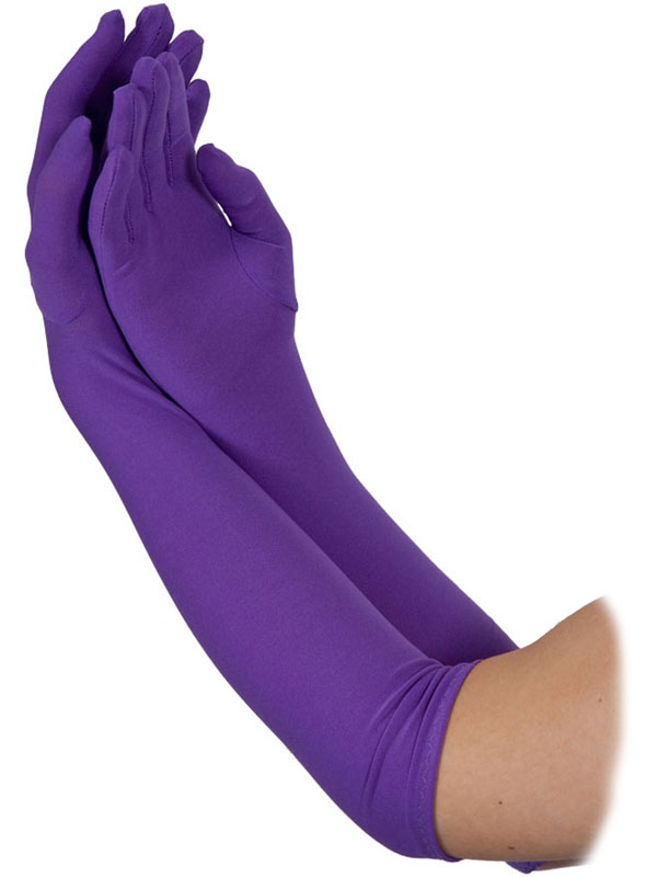 Ladies Long Gloves Purple