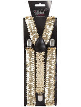 Braces 96 X 25cm Gold Sequin