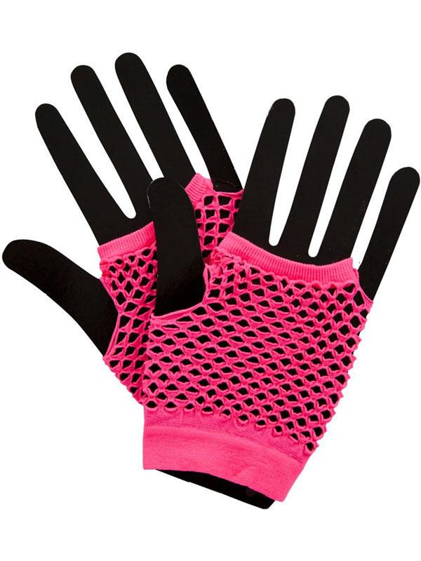 Net Gloves Neon Pink