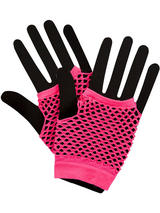 Net Gloves Neon Pink
