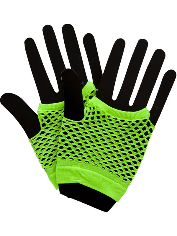 Net Gloves Neon Green