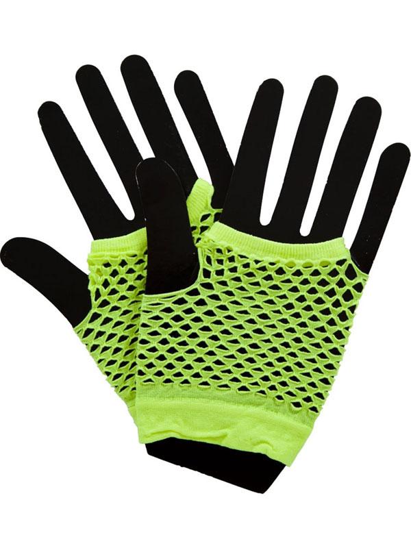 Net Gloves Neon Yellow