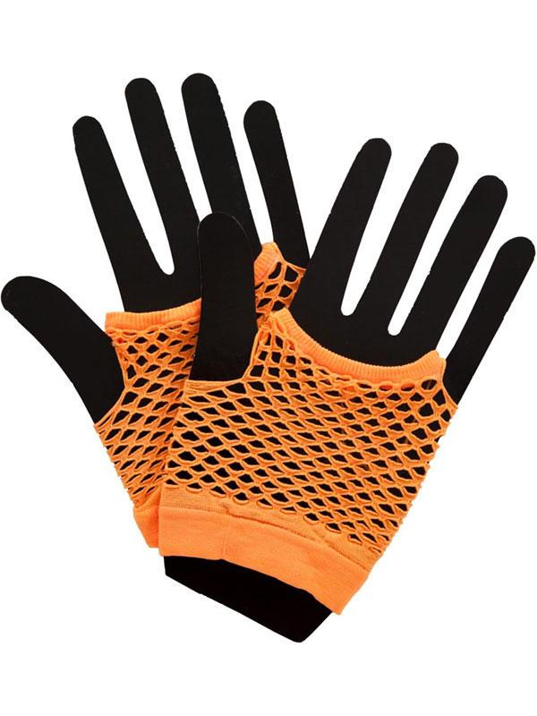 Net Gloves Neon Orange