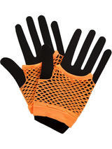 Net Gloves Neon Orange