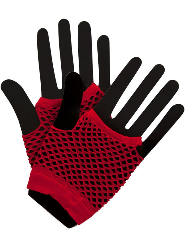 Net Gloves Red