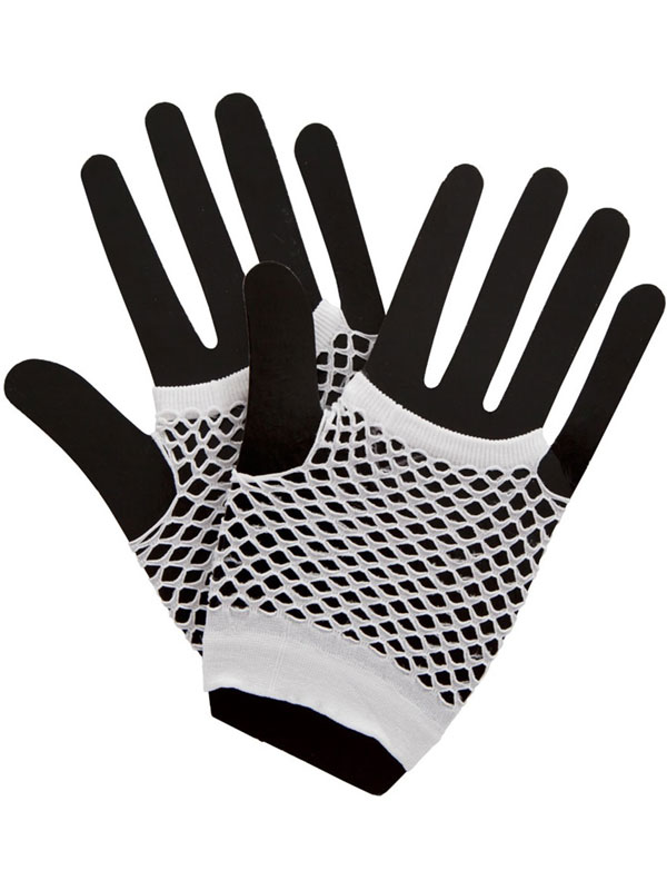 Net Gloves White