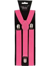 Braces 96cm X 25cm Neon Pink