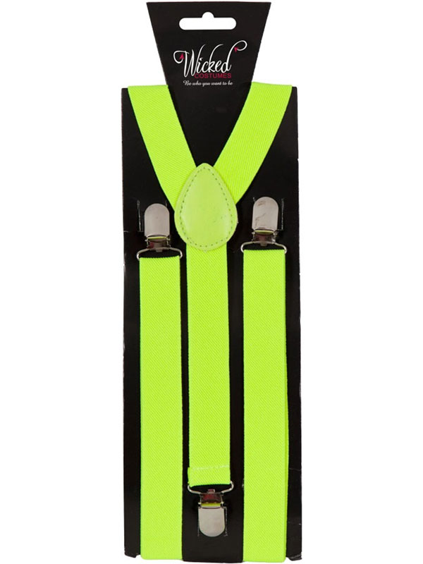 Braces 96cm X 25cm Neon Yellow