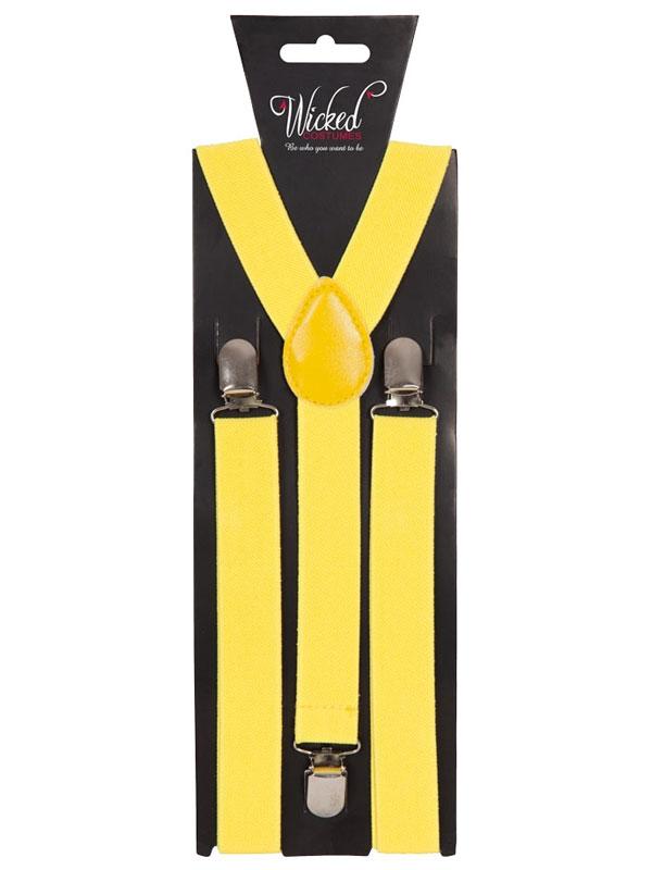 Braces 96 X 25cm Yellow