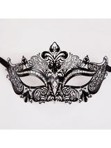Adult Metal Stunning Eye Mask (Matt Black Diamantes)