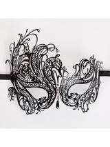 Adult Metal Elegant Eye Mask (Matt Black Diamantes)