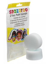 Snazaroo Face Paint High Density Sponges 2 Pack Fancy Dress Halloween Clown